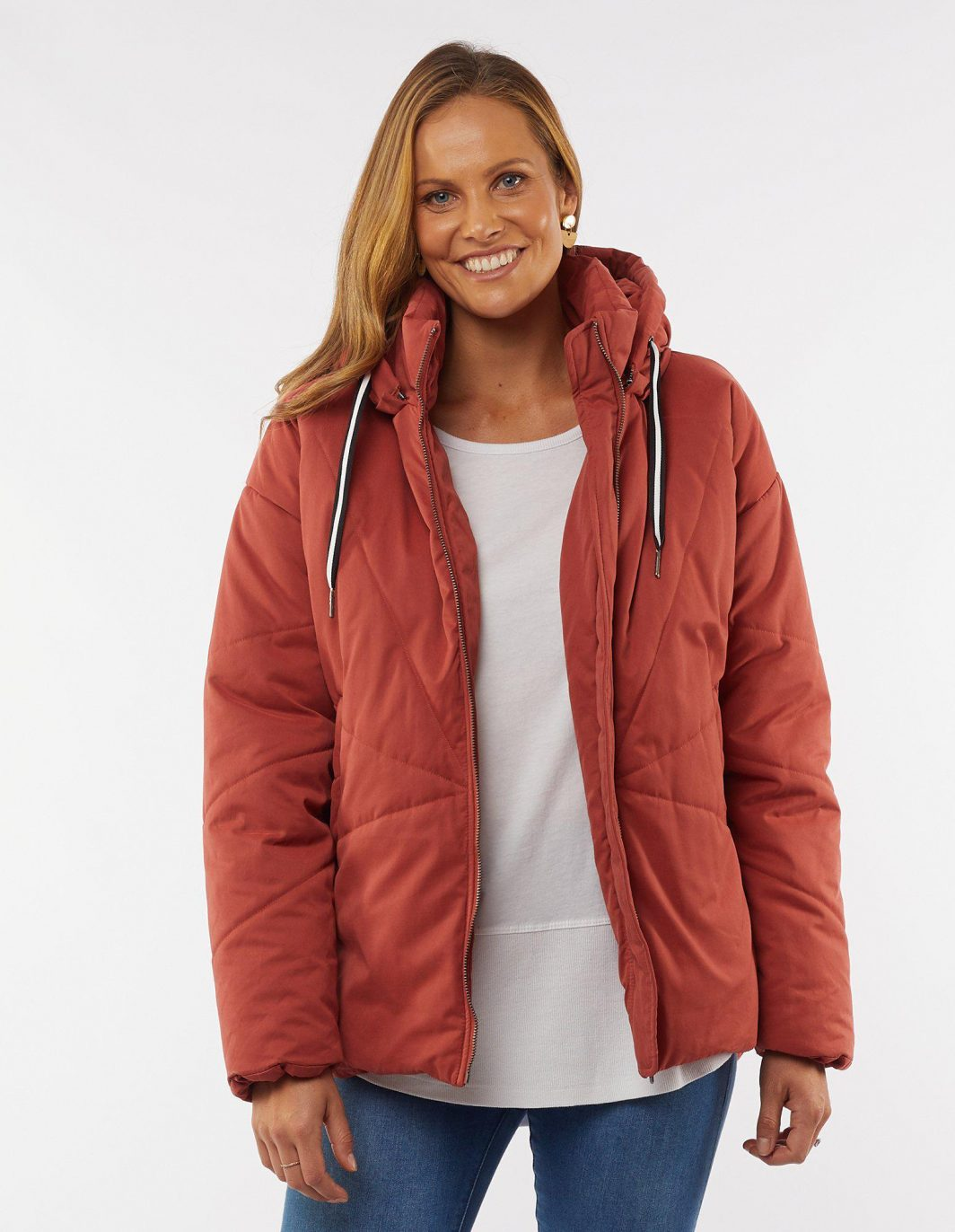 Elm Zadie Jacket Rust Front