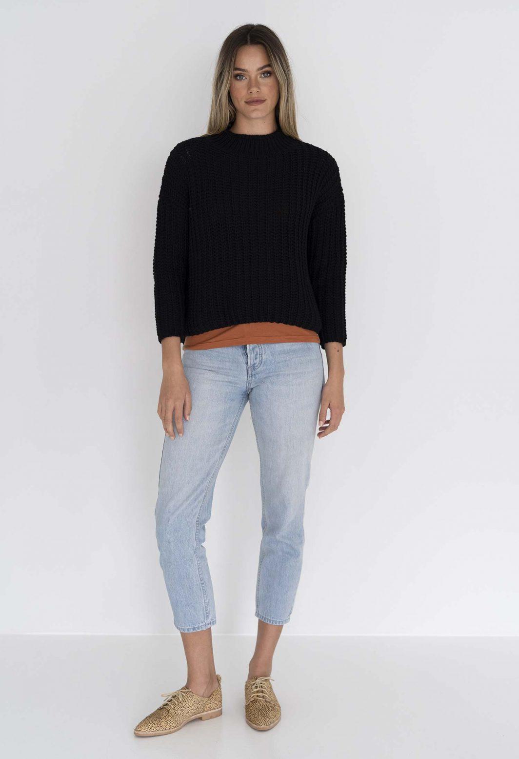 Humidity Coco Knit jumper Black