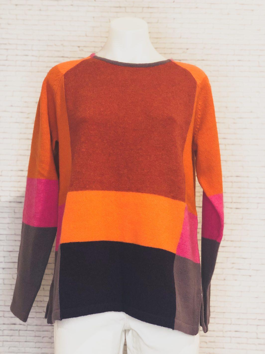 Mansted Totem Sweater Dark Orange