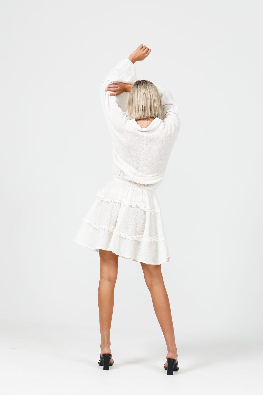 Daisy Says Penzance Dress Ecru