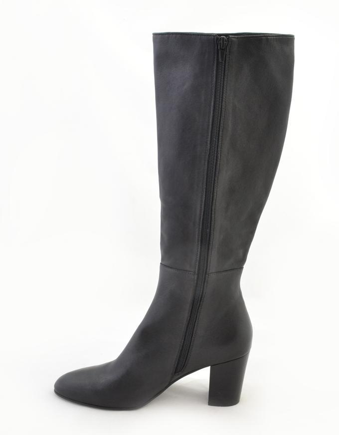 Laureen Long Leather Boot Black