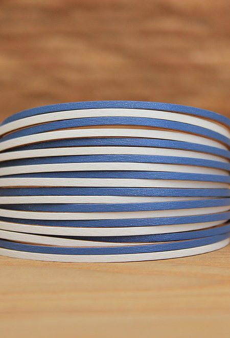 Leather Strand Bracelet: Blue