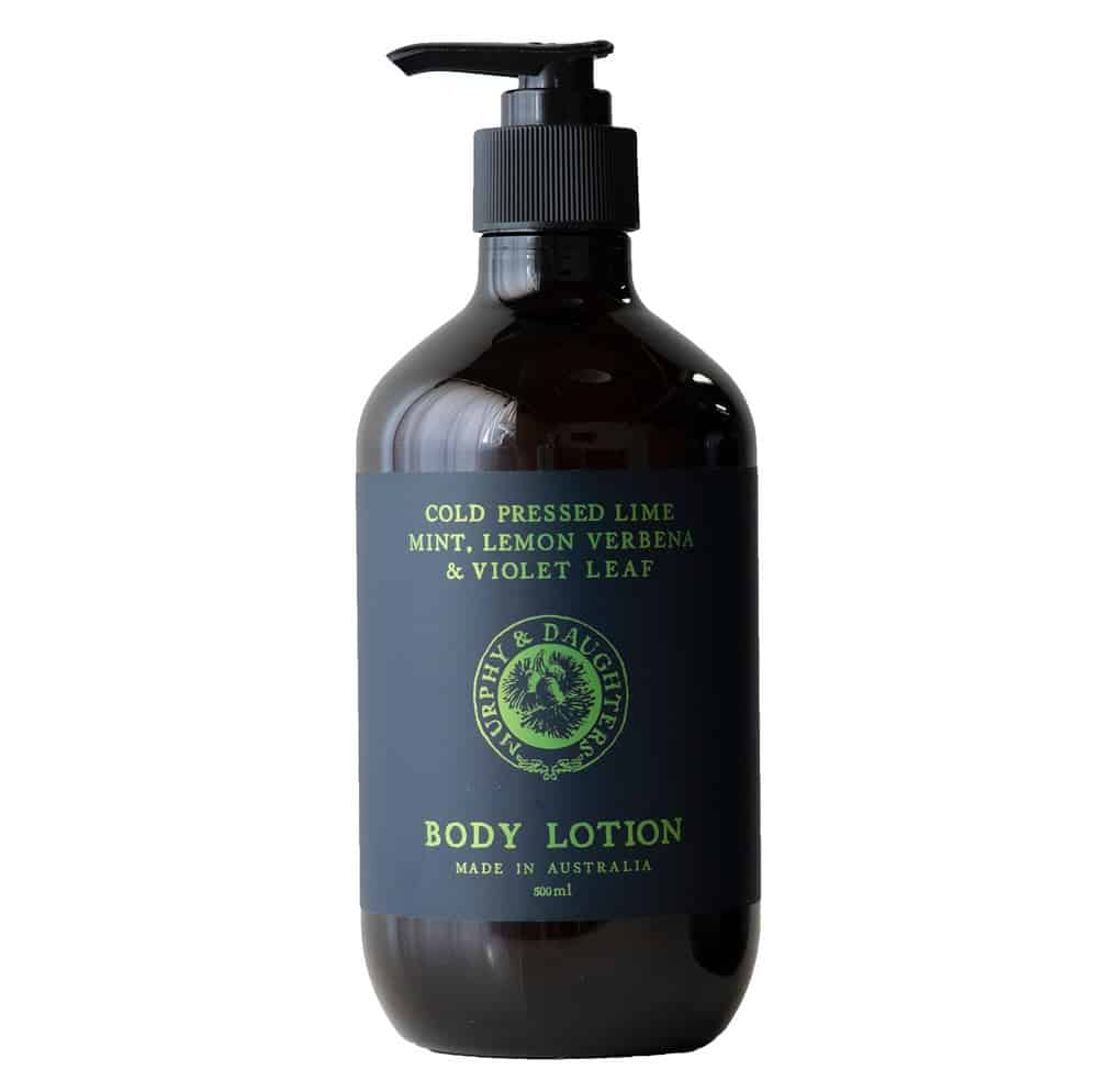 Murphy_and_Daughters Hand & body lotion - Cold Pressed Lime, Mint, Lemon Verbena and Violet Leaves
