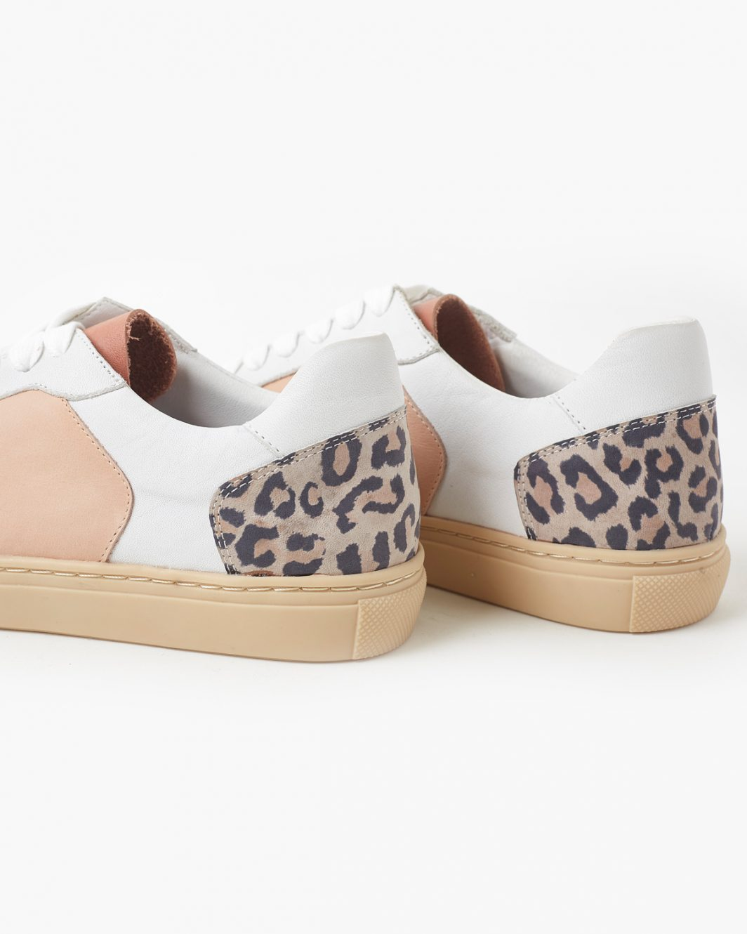 Tao Leather Sneaker - Taupe Leopard 1