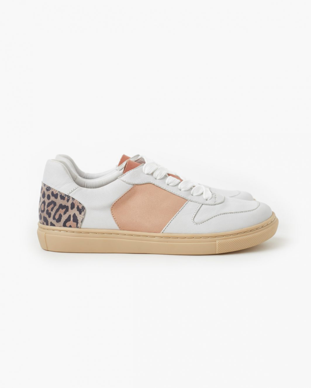 Tao Leather Sneaker - Taupe Leopard 3