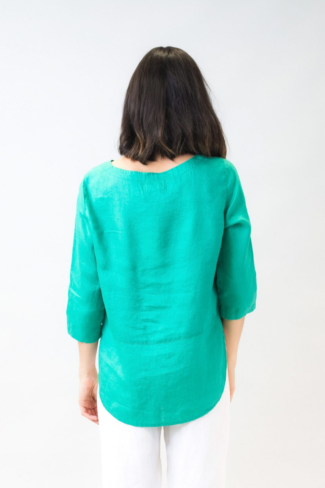 Olive Et Julie Linen Pocket Top Emerald