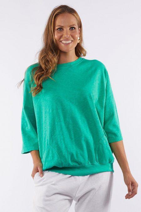Elm Fundamental Mazie Sweat - Bright Green